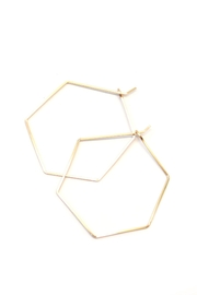 Bent by Courtney Large Hexi Hoops - Front cropped