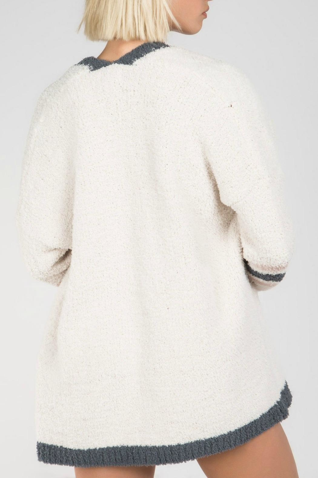 MHGS Berber Fleece Cardigan - Back Cropped Image