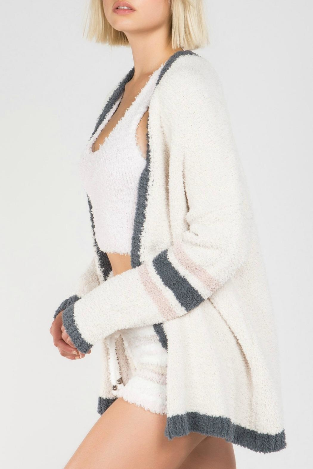 MHGS Berber Fleece Cardigan - Front Cropped Image
