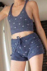 POL Berber Fleece Heart Shorts - Product Mini Image