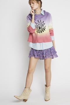 Shoptiques Product: Anais Sweater In Purple Tie Dye