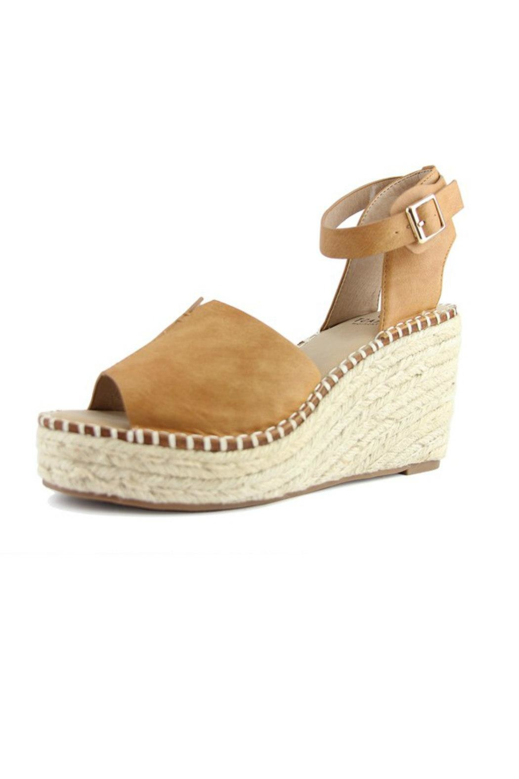 Beast Fashion Berlin Ankle-Wrap Wedge - Front Full Image