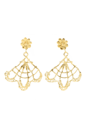 Jessica Ricci Jewelry Berlin Lace Fan Earrings - Product Mini Image