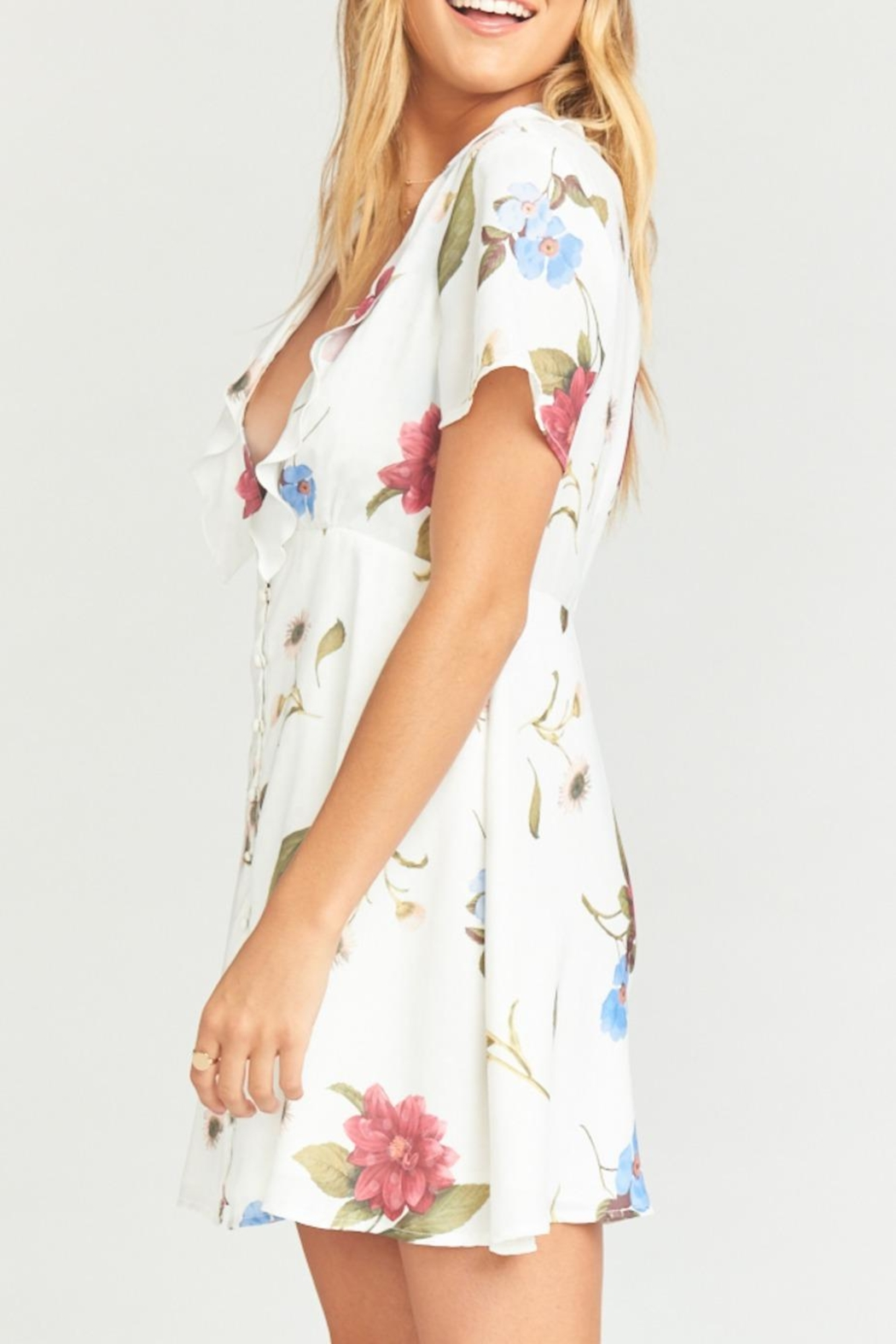 Show Me Your Mumu Bernadette Babydoll Dress - Side Cropped Image