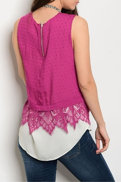 Esley Berry Lace Top - Alternate List Image