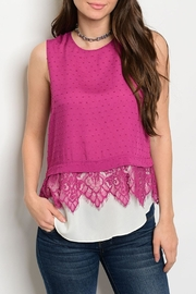 Esley Berry Lace Top - Product Mini Image