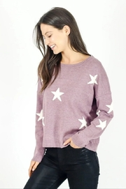 Six Fifty Berry Star Sweater - Product Mini Image