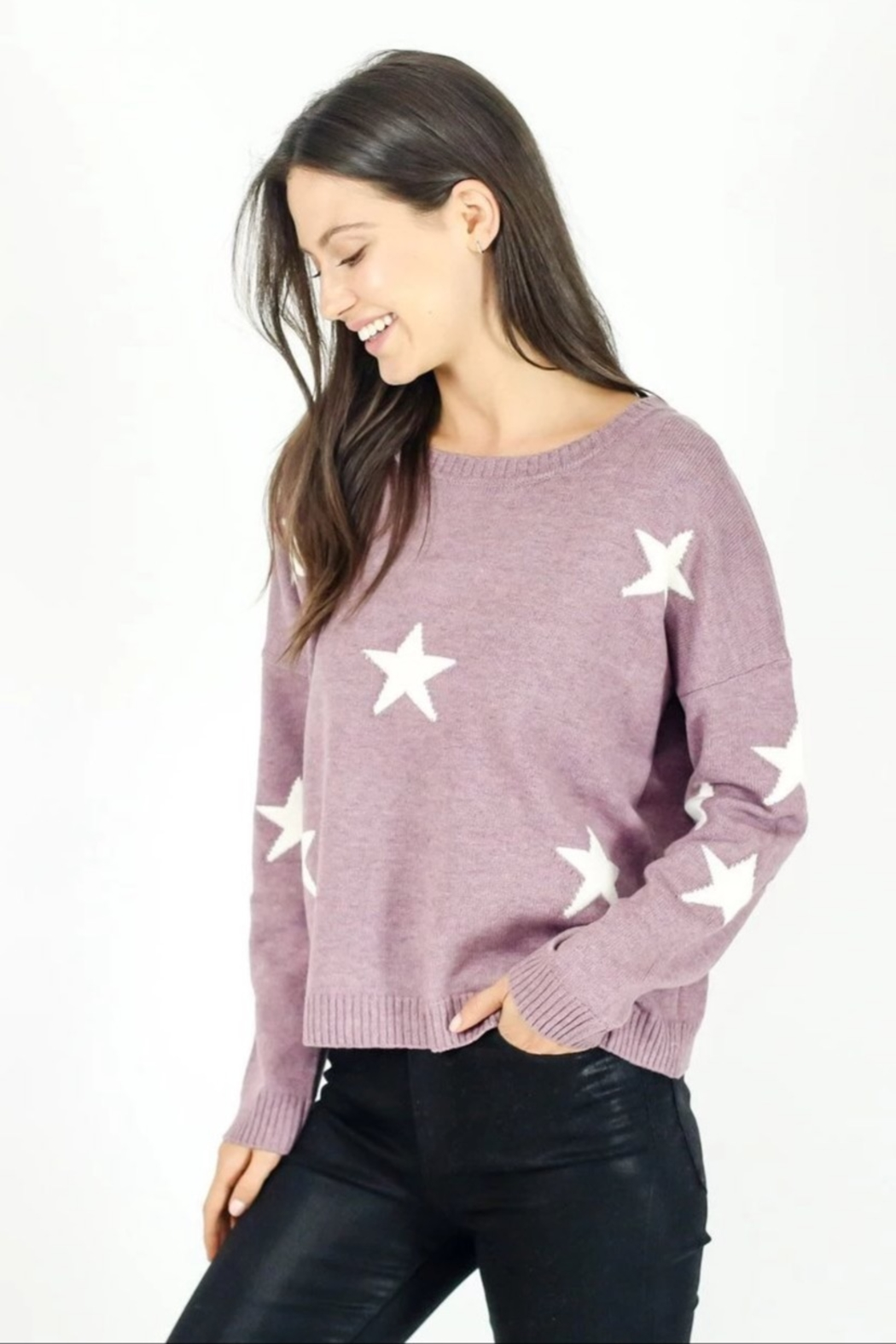 Six Fifty Berry Star Sweater - Main Image
