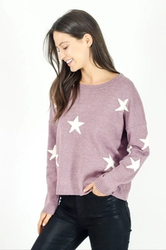 Shoptiques Product: Berry Star Sweater