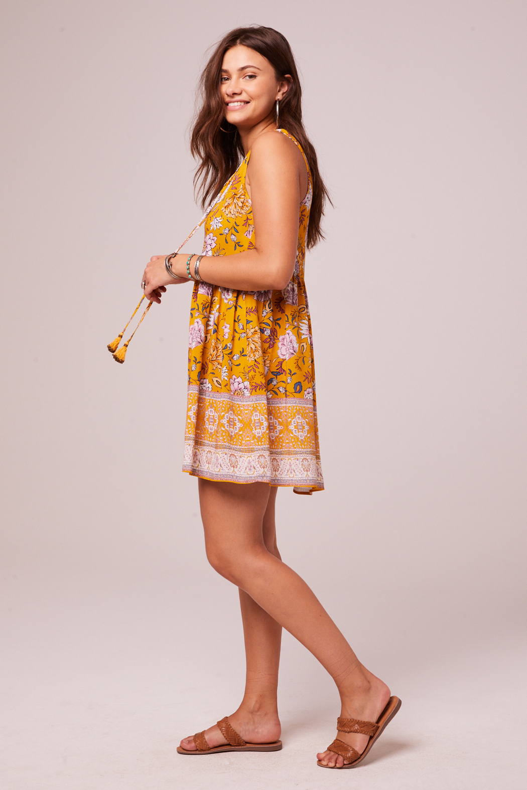 Band Of Gypsies Bessie Shift Dress - Front Full Image