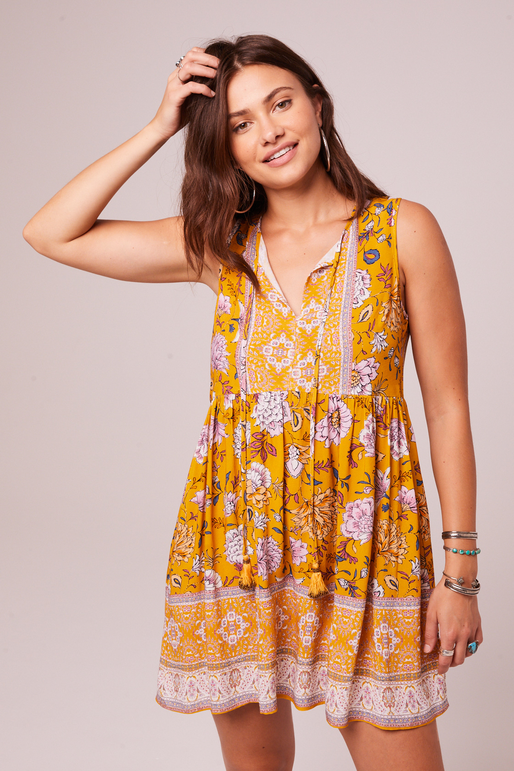 Band Of Gypsies Bessie Shift Dress - Back Cropped Image