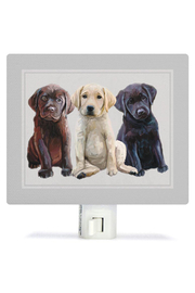 Greenbox Art Best Friends Labs Night Light - Front cropped