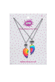 3 Cheers 4 Girls Best Friends Tie Dye Necklaces - Product Mini Image