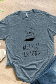 Moonlight Makers Best Seat In Town - Men's Tee (Skiing, Snowboarding) - Product Mini Image