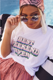 Friday + Saturday Best Weekend Ever Tee - Product Mini Image