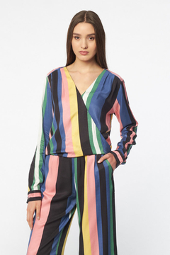 Best Mountain Striped V-neck Blouse - Product List Image