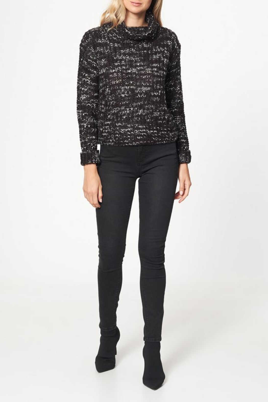 Best Mountain Marled Turtleneck Sweater - Front Cropped Image