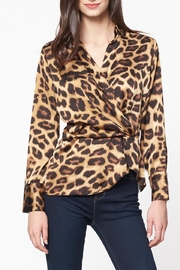 Best Mountain Twisted Leopard Blouse - Front full body
