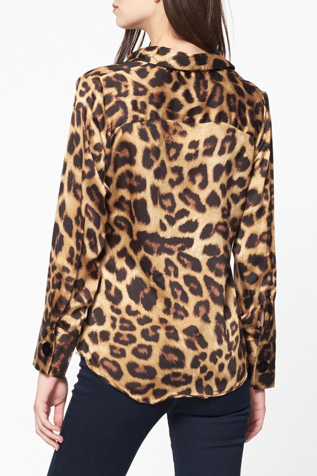 Best Mountain Twisted Leopard Blouse - Side Cropped Image