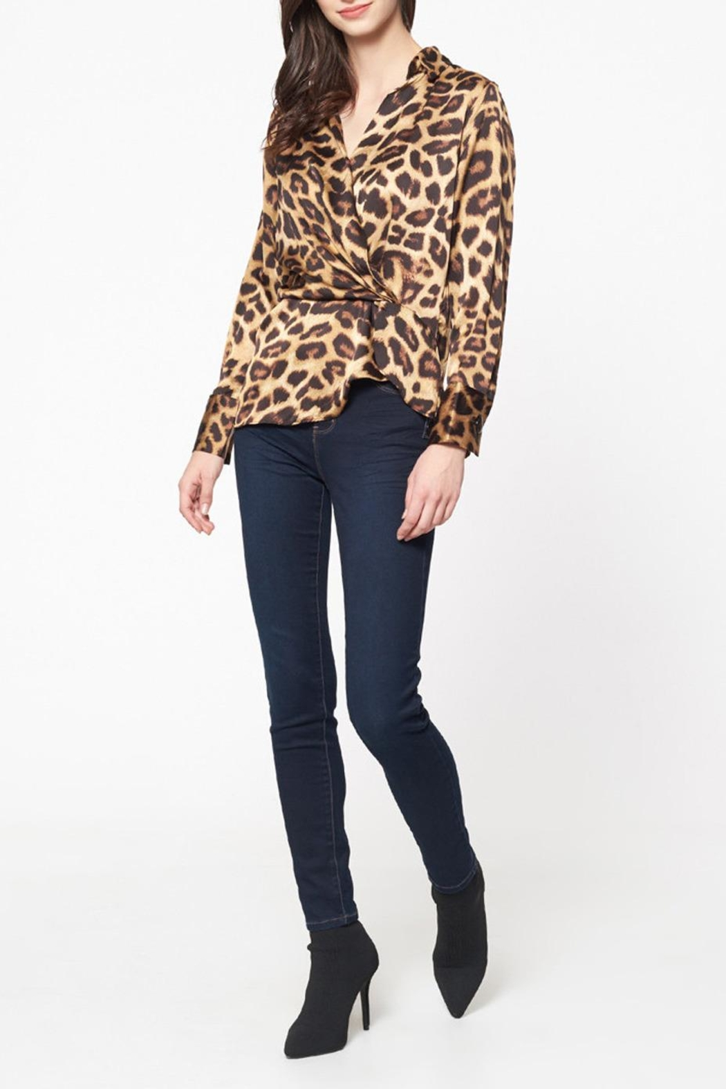 Best Mountain Twisted Leopard Blouse - Main Image
