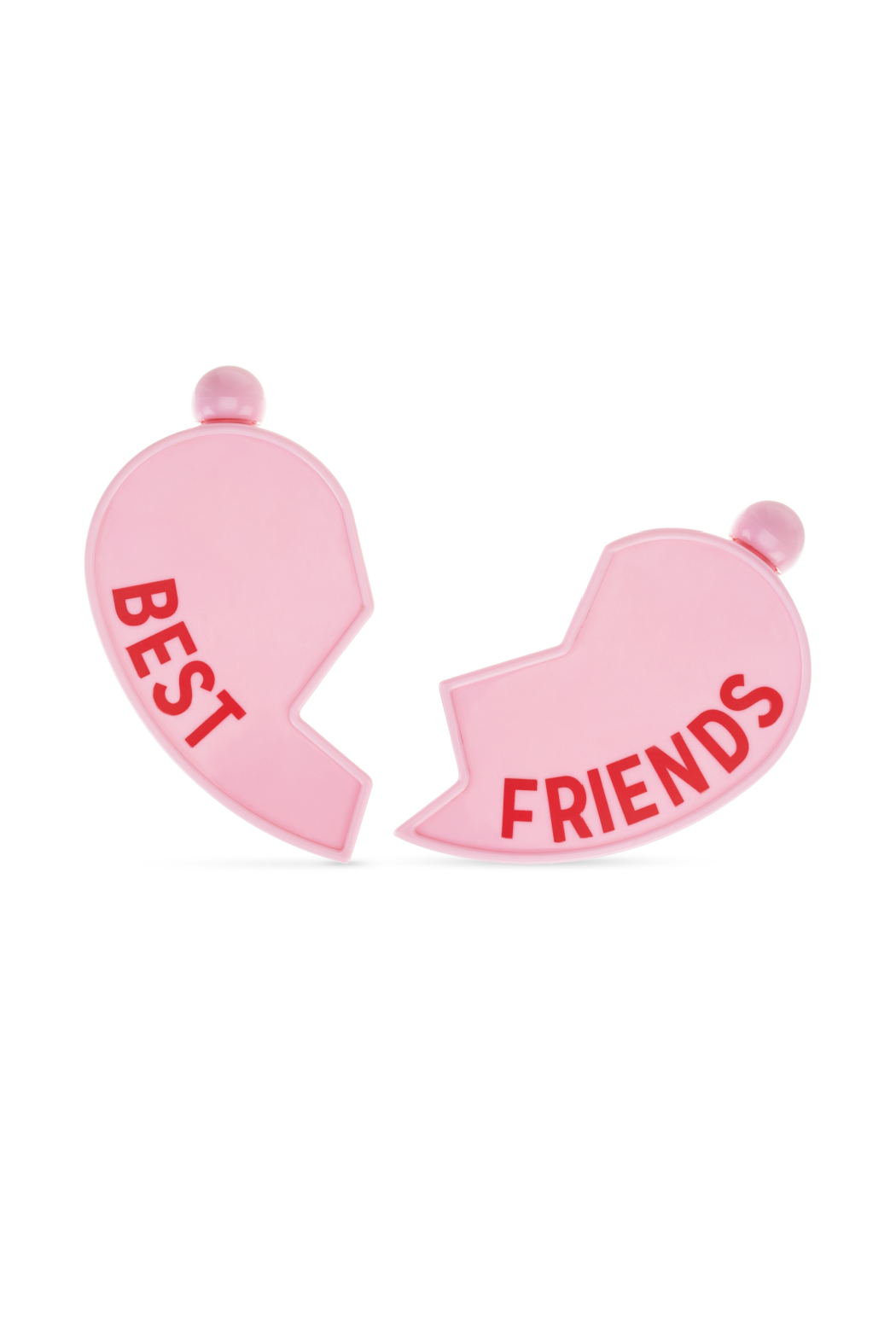 Blush Besties Heart Flask - Front Full Image