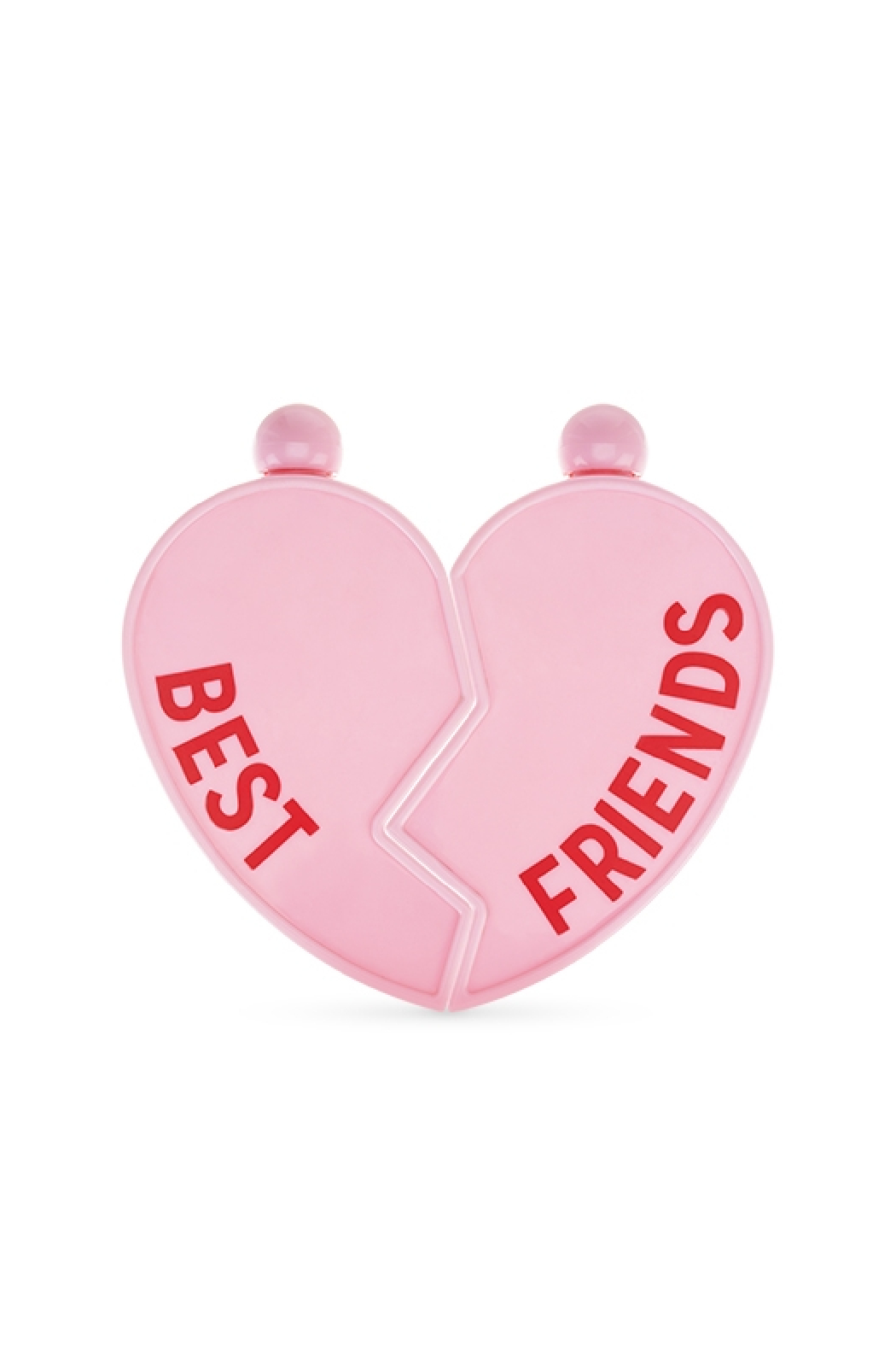 Blush Besties Heart Flask - Front Cropped Image
