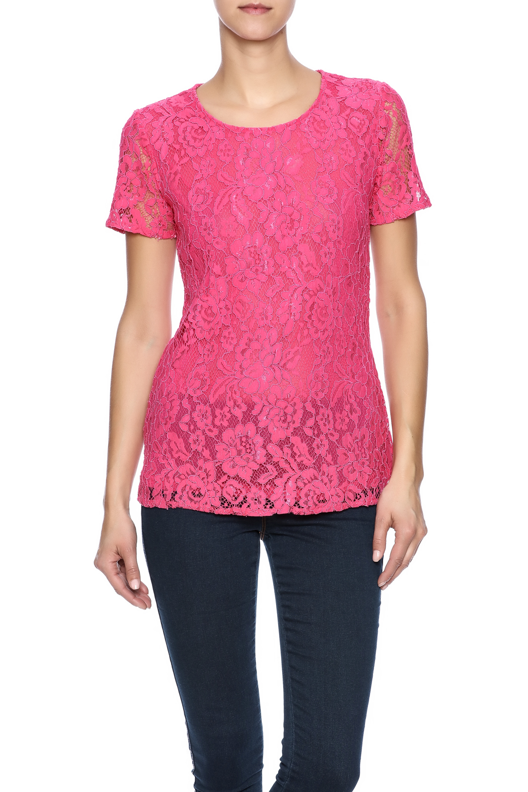 Betas Choice Pink Lace Top from Kentucky by Lee Stephens ...