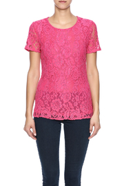 Betas Choice Pink Lace Top - Side cropped