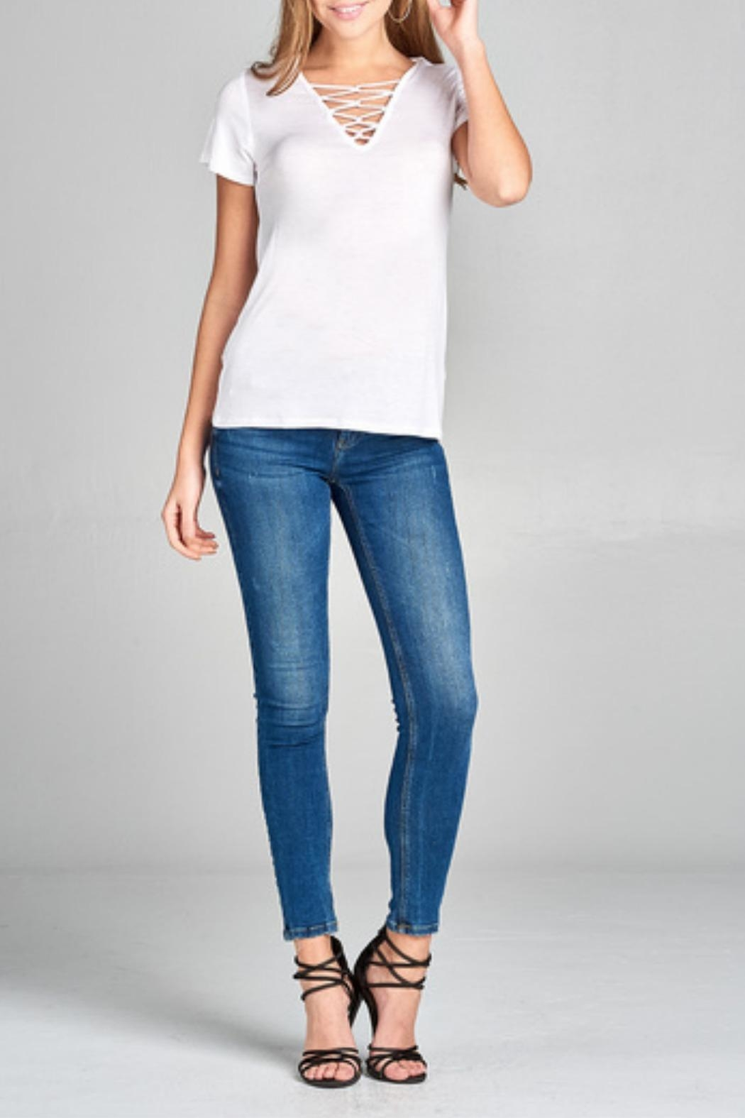 Active Basic Beth Basic Tee - Side Cropped Image