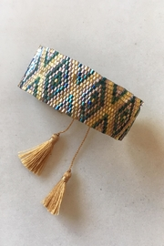 Beth Friedman Beaded Tassel Bracelet - Front cropped