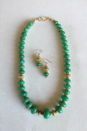 Beth Friedman Chrysoprase Gold Necklace/earrings - Product Mini Image
