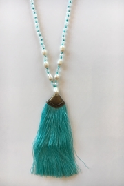 Beth Friedman Crystal & Pearls Tassel Necklace - Product Mini Image