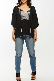 Beth Friedman Embroidered Beaded Top - Product Mini Image
