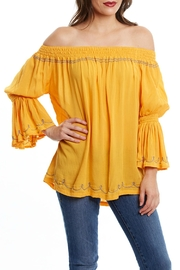 Beth Friedman Mustard Boho Blouse - Front cropped