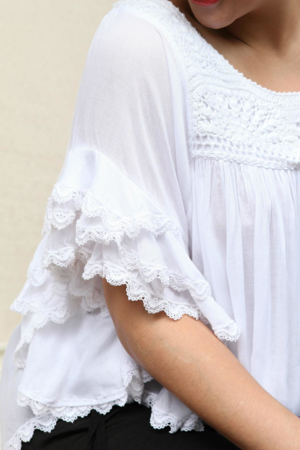 Beth Friedman Embroidered Top - Side Cropped Image