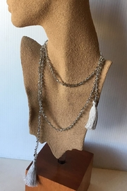 Beth Friedman Faceted Crystal Necklace - Front full body
