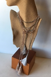 Beth Friedman Faceted Crystal Necklace - Side cropped