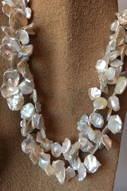 Beth Friedman Natural Pearl Necklace - Back cropped
