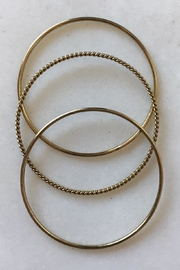 Beth Friedman Gold Bangles Set-Of-3 - Product Mini Image