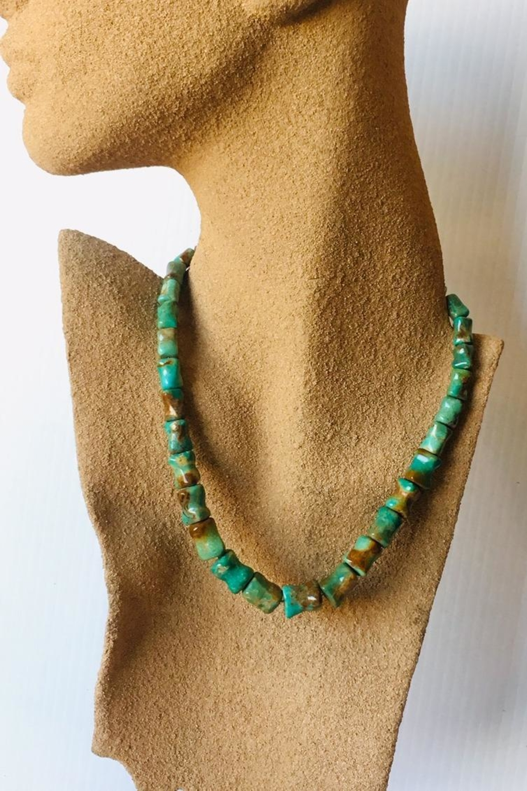 Beth Friedman Green Turquoise Necklace - Front Full Image