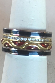 Beth Friedman Hidalgo 18 Karat Yellow Gold And Red Enamel Stackable Ring - Other