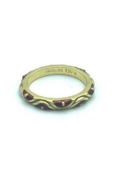 Shoptiques Product: Hidalgo 18 Karat Yellow Gold And Red Enamel Stackable Ring