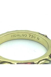 Beth Friedman Hidalgo 18 Karat Yellow Gold And Red Enamel Stackable Ring - Front full body