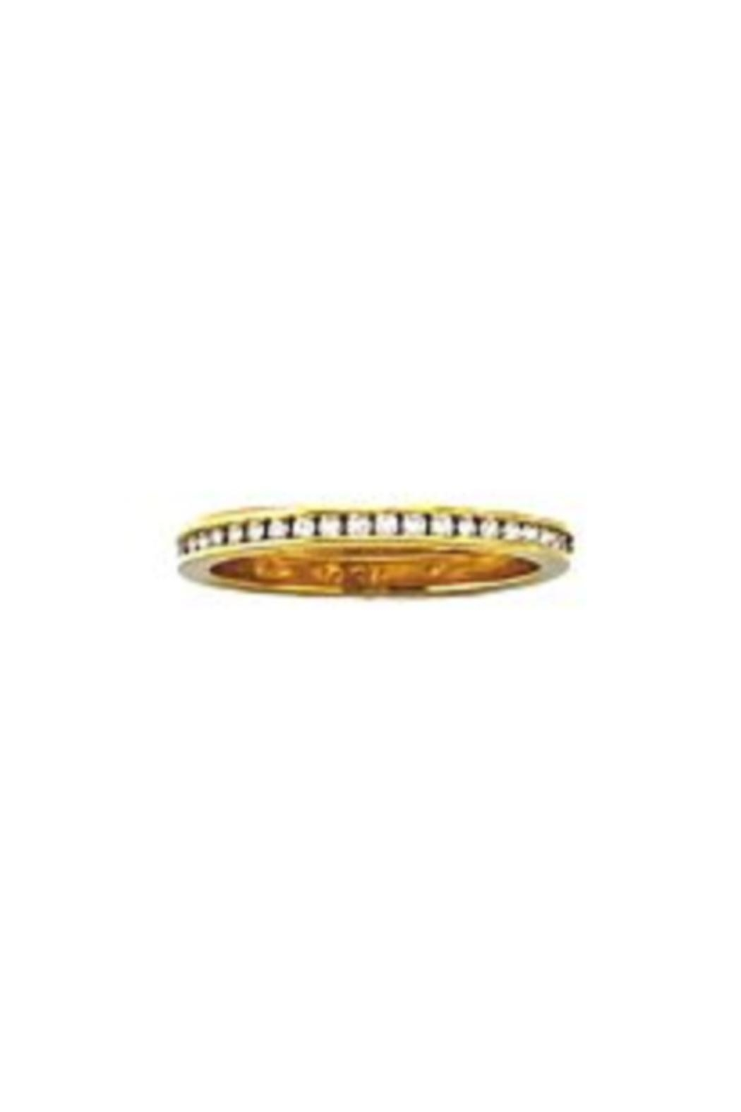 Beth Friedman Hidalgo Channel-Set Diamonds And 18kt Gold Stackable Ring - Main Image