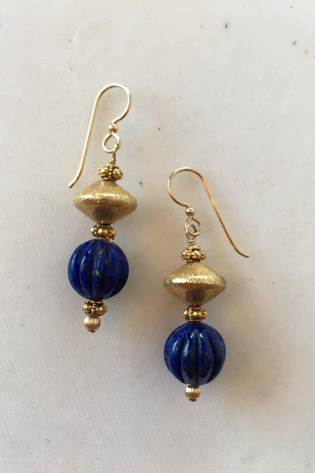 Beth Friedman Lapis Gold Earrngs - Main Image
