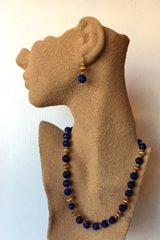Beth Friedman Lapis Gold Necklace - Front full body