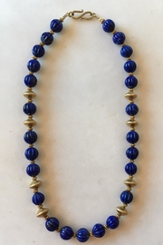 Beth Friedman Lapis Gold Necklace - Side cropped