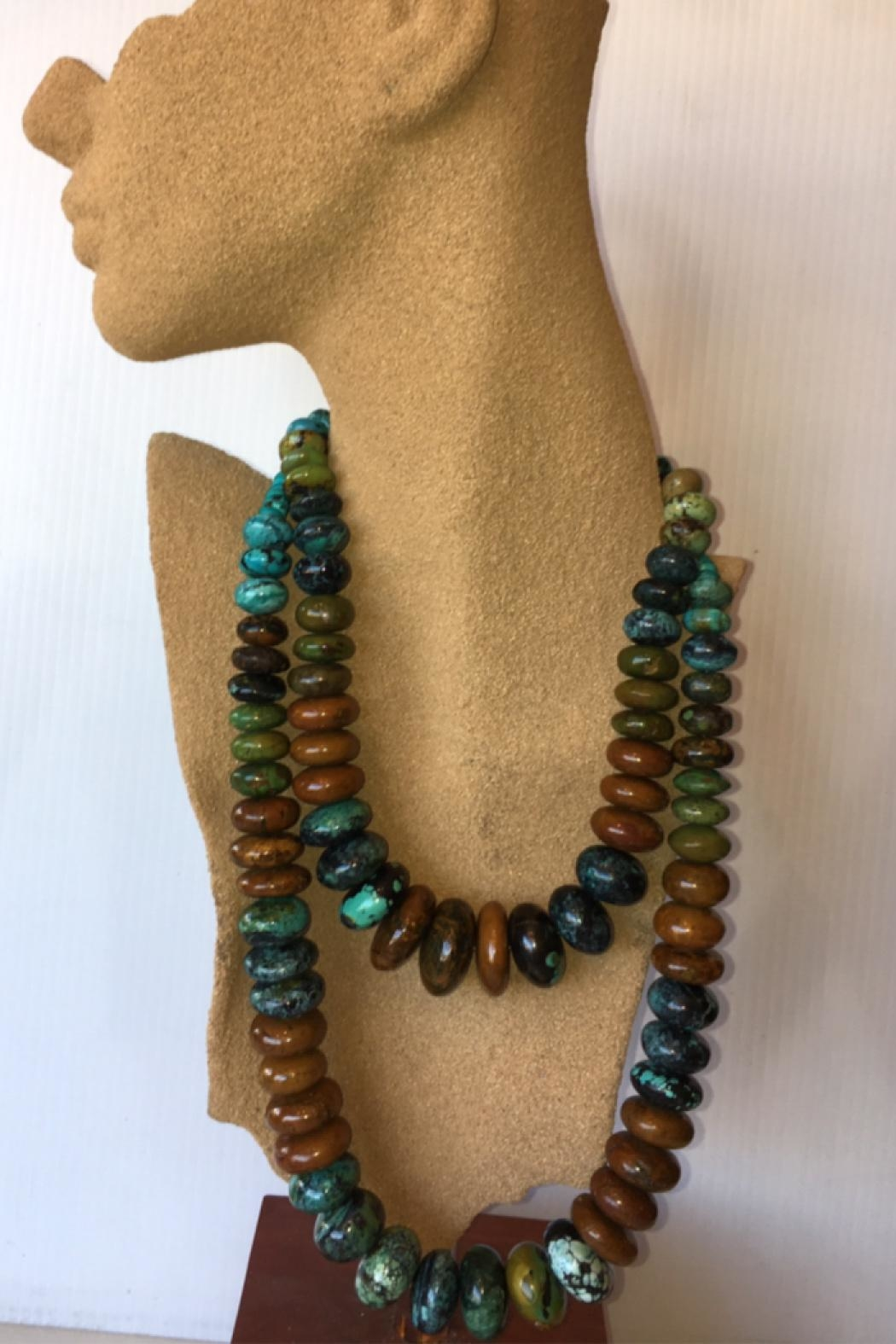 Beth Friedman Multicolor Turquoise Necklace - Back Cropped Image