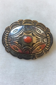 Beth Friedman Navajo Sterling Coral Pin - Product Mini Image