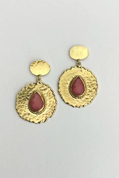 Shoptiques Product: Coral Chalcedony Earrings